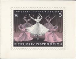 AUTRICHE Epreuves D'Artiste MAQ - 1067, Maquette Encre, Gouache + Couleur, Type Non Adopté, (5 Danseuses): Beau Danube B - Autriche