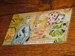 Carte Escargot Champignon Parfum Cuisine Château Cheminée - Old Paper