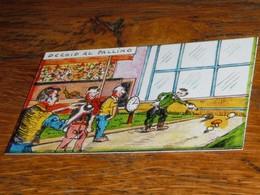 Carte Escargot Champignon Pétanque - Old Paper