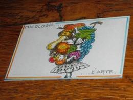 Carte Escargot Champignon Raisins Art Et Micologie - Old Paper