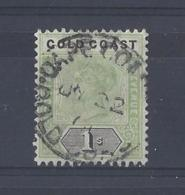 GOLD COAST........QUEEN VICTORIA.(1837-01).....1/-............SG31..........CDS,....VFU.. - Côte D'Or (...-1957)