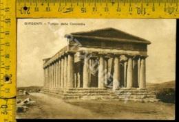 Agrigento Girgenti Tempio Della Concordia - Agrigento