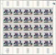 FRANCE Poste ** - 1263/5 + 1376/7, 5 Feuilles Complètes De 25: 2éme Et 3éme Tableaux - Cote: 462 - Neufs
