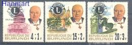 Burundi 1967 Mi 345-347 MNH ( ZS4 BUR345-347 ) - Rotary, Lions Club