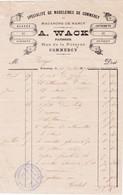 55-A.Wack...Spécialités De Madeleines ...Commercy...(Meuse)...1891 - Alimentaire