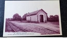 CPA CROSSAC La Gare Ligne Saint Nazaire à La Roche Bernard 44 Loire Atlantique Inférieure - Otros Municipios