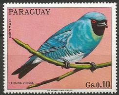Paraguay MNH 1973 - Family TANAGERS And Allies : Swallow Tanager ( Tersina Viridis ) - Pájaros Cantores (Passeri)