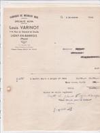 55-L.Varinot Fabrique De Meubles Bois  Ligny-en-Barrois    (Meuse) 1948 - France