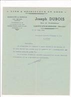 55-J.Dubois..Vins & Spiritueux.. Ligny-en-Barrois    (Meuse) 1946 - France