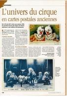 """Thème """"LE CIRQUE"""" 13 SCANS Tirés De Revues Présentant """" Le Cirque En Cartes Postales """" - Colecciones"""