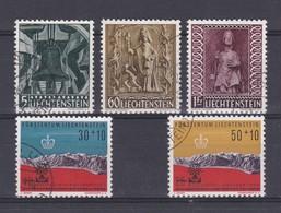 Liechtenstein 1959/60  Nr 350/54 Gest, Zeer Mooi Lot Krt 4844 - Oblitérés