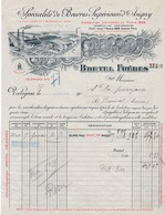 55-Bretel Frères..Spécialité De Beurres Supérieurs...Valognes..(Meuse)...1919 - Food