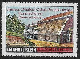 4110s: Vignetten- Reklamemarken Rosen- Und Baumschützer, Glashaus Etc. ** Aus Ca. 1912 - Rosen