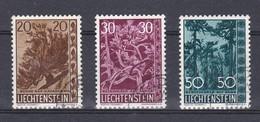 Liechtenstein 1960  Nr 356/58 Gest, Zeer Mooi Lot Krt 4846 - Oblitérés