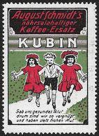 4110q: Vignette- Reklamemarke Kubin Kaffee- Ersatz ** Aus Ca. 1912 - Getränke
