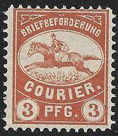 4110r: Privatpostmarke Motiv Reiter/ Postcourier ** - Deutschland