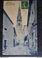 CPA PARTHENAY Eglise Saint Laurent Prise De La Rue Ernest Renan 79 DEUX SEVRES - Parthenay