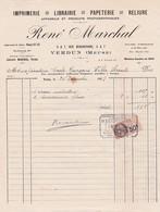55-R.Marchal..Imprimerie-Librairie-Papeterie..Appareils & Produits Photographiques. Verdun.. (Meuse)..1927 - Imprimerie & Papeterie