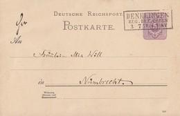 DR Ganzsache R3 Denklingen Reg. Bez. Coeln 3.7.89 - Deutschland
