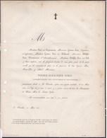 SAINT-NICOLAS  SIRET Pierre-Alexandre, Conservateur Des Hypothèques Honoraire 75 Ans 1861 Famille CAPIAUMONT DUHAMEL - Décès