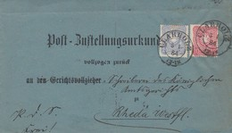 DR Post-Zustellungsurkunde Mef Minr.41,42 K2 Clarholz 3.1.84 Seltener Stempel Gel. Nach K1 Rheda - Deutschland