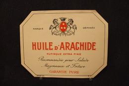 A.V.B.2 / Distillerie Stokerij -  Huile D'Arachide Rufisque Extra Fine  Garantie Pure   13.5 X 10.5 Cm - Autres