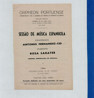 Program - Portugal - Orpheon Portuense - 16 Março 1964 - Sessão De Música Espanhola - Programs