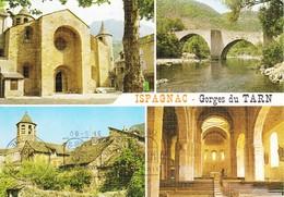 48 Ispagnac Divers Aspects De L'Eglise Et Pont De Quezac (2 Scans) - France