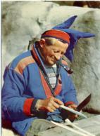 NORGE  NORWAY  NORVEGIA  A Lap Making Souvenirs  Same Lager Souvenirs - Norvegia