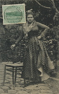 West Indian Woman Type  Dominica Stamped Dominica Not Postally Used - Dominique