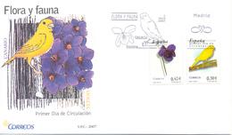 "Espagne FDC 2007 "" Canari "" - Vögel"
