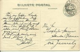 1908 50 Rs Bilhete Postal  Exposicao Nacional   Used - Postwaardestukken