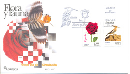 "Espagne FDC 2007 "" Huppe "" - Specht- & Bartvögel"