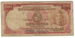 Uruguay 100 Pesos 1939, Used, See Scan (C Series , 7 Dig.) - Uruguay