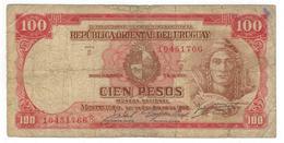 Uruguay 100 Pesos 1939, Used, See Scan (D Series , 8 Dig.) - Uruguay