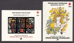 France - Croix Rouge - Annees 1981, 1983 - Carnet, Neufs** - Libretas