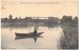 CELLETTES LOIR ET CHER : LE BEUVRON AU PONT DE CHEMIN DE FER - Circulé Vers PARIS Mme CABU - Other Municipalities