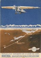 Aviation - NHORA - Navigation Horlogère Aérienne - La Chx-de-Fds - Superbe Et Rare - Aviation