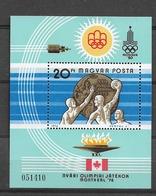 1976 MNH Hungary, Mi Block 122A  Postfris** - Verano 1976: Montréal