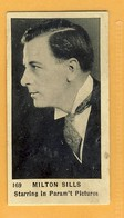 Milton Sills Theater / Film Actor - Tobacco Card - Strollers Cigarettes Montreal Canada - Sigarette