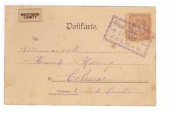 France Alsace Lorraine Poste Privée Colmat Cachet Privat Stadt Post 1897 - Alsazia-Lorena