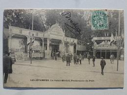 91 ÉTAMPES  Carte Inédite Sur Delcampe En Très Bel état - La Saint-Michel - Promenade Du Port  DEN1132 - Etampes