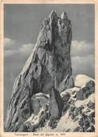 "0931 ""COURMAYEUR-DENTE DEL GIGANTE "" CART. ORIG.  SPED.1937 - Italia"