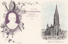 Thomas Noerber Archbishop Of Freiberg I. Breisgau Germany, Cathedral, C1900s Vintage Embossed Postcard - Christianity