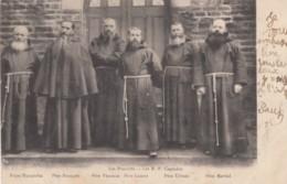 Les Proscrits Les R.P. Capucins The Proscribed The Capuchins Bretagne(?) France Monks, C1900s Vintage Postcard - Christianity