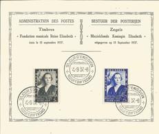 OCB 456 - 457 Herdenkingsblad - Briefe U. Dokumente