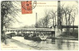 CPA DE CASTELSARRASIN  (TARN-ET-GARONNE)  LE CANAL ET LE PONT DE L' USINE - Castelsarrasin