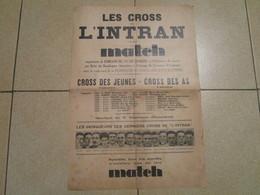 LES CROSS De L'INTRAN Et De MATCH Au Bois De Boulogne - Athlétisme