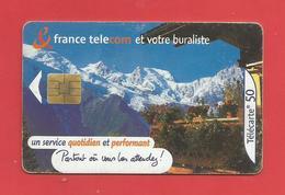 TELECARTE 50 U TIRAGE 500 000 EX  France Télécom Et Votre Buraliste X 2 Scans - Telecom Operators