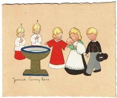 1946 - Faire-part De Naissance - Josiane - Illustration De James Pennyless - 2 Scans - Naissance & Baptême